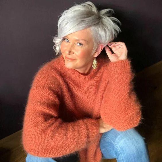 19 коротких стрижек для женщин после 50 | Красотка | Яндекс Дзен