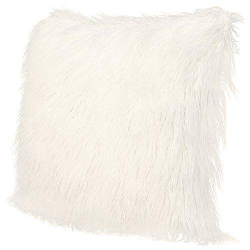 icosy fluffy pillow case mongolian faux