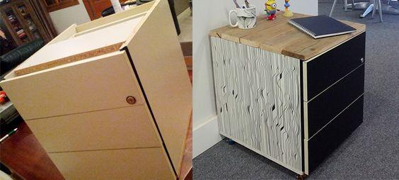 Gaveteiro customizado - Antes e depois  Tutorial: http://mohva.com.br/loja/customizando-um-gaveteiro/