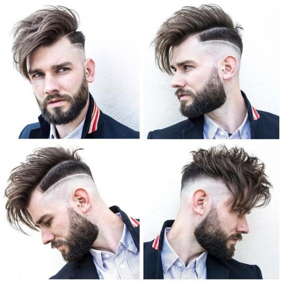 High-Low Fade + Surgical Line + Long Fringe