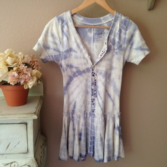 FREE PEOPLE We Are the Free t-shirt tunic. Super cute and so comfy. Never worn. Perfect condition • Size: Small • 100% cotton • tie-dye luxurious t-shirt fabric • Studded detail along front. Reasonable offers are welcome. Free People Tops Tunics