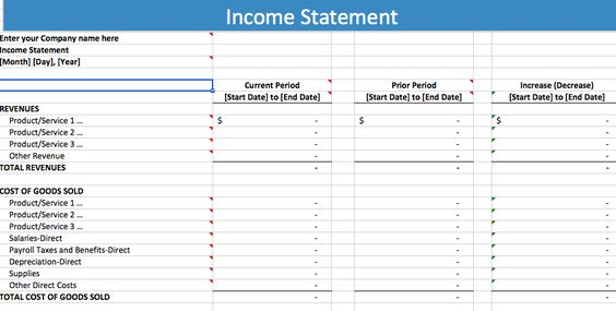 5 Free Income Statement Examples And Templates Statement - payroll sheet template