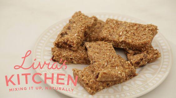 Raw Maca Granola Bars | Livia's Kitchen