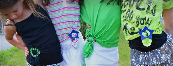 Teeshirt fun! Fashion trend for girls.  Got a baggy tee? Put on an Umzie®! www.teeshirtumzie.com