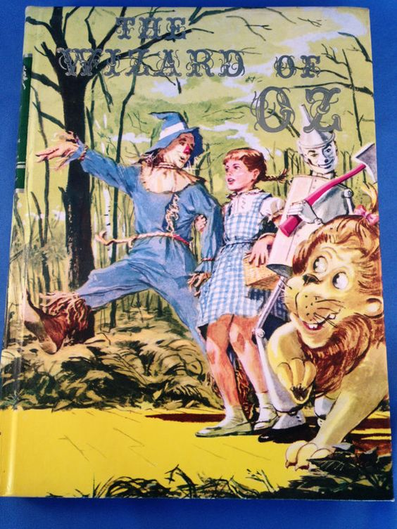 The Wizard of Oz L. Frank Baum 1977 Illustrations Evelyn Copelman Illustrated Junior Library Grosset & Dunlap, Dorothy, Scarecrow, Tin Man on Etsy, $18.00: