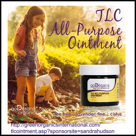 TLC All-Purpose Ointment is an exceptional treatment for cuts, scrapes, bug bites, dry skin, chafing, and a wide variety of other skin irritations. It soothes and nourishes skin as it rejuvenates. FREE TRAINING http://godesanaorganics.com/pdf/TLCOintment-datasheet.pdf