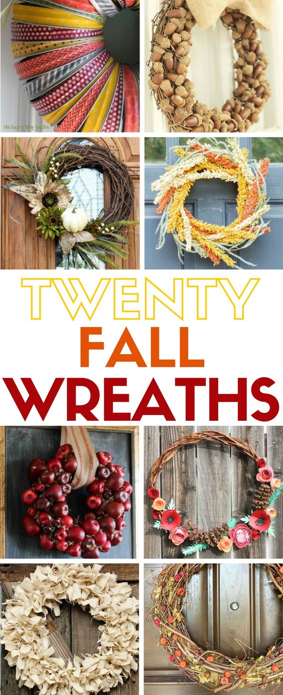 How to make 20 easy wreaths for fall autumn home craft for Home decor craft ideas for adults tutorial