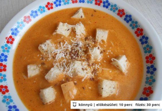Garlic soup as he prepares Katrin