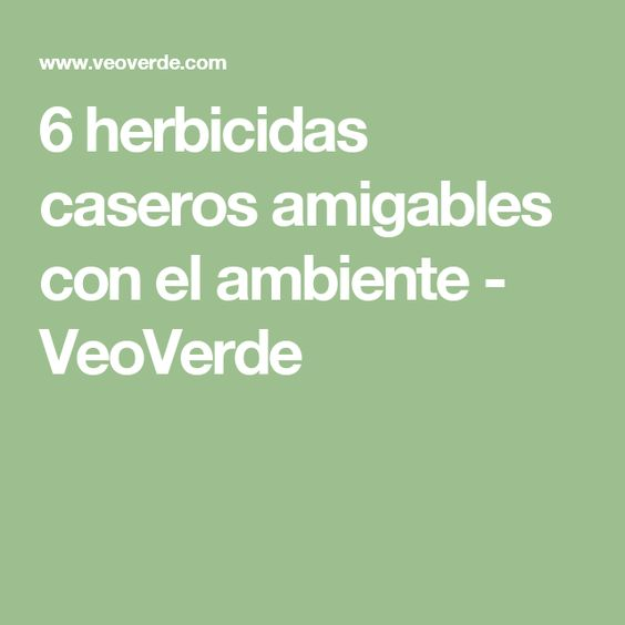 6 herbicidas caseros amigables con el ambiente - VeoVerde