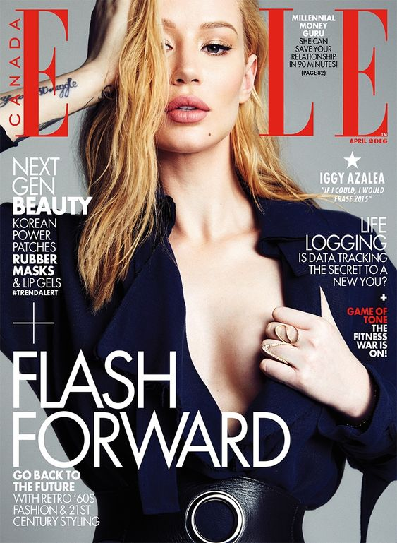 Iggy Azalea on ELLE Canada Magazine April 2016 cover: