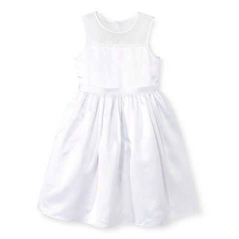 Girls' Illusion Flower Girl Dress White Tevolio™ : Target