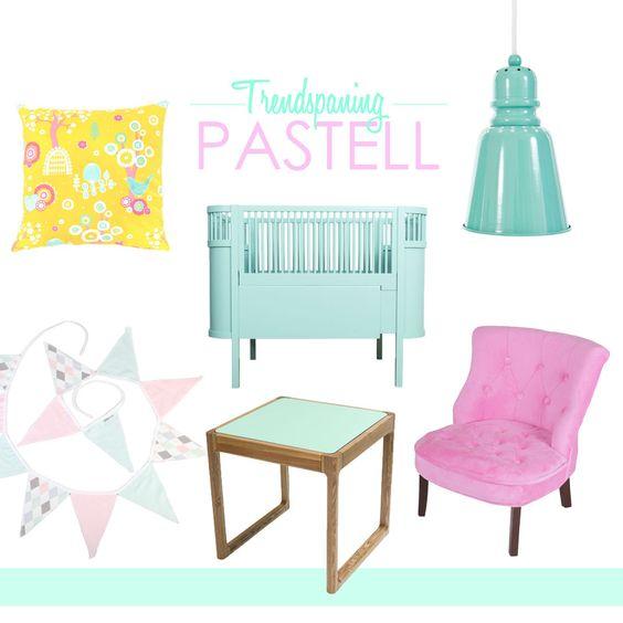 Trendspaning <3 pastell #jollyroom #pastell #trend #barnrumsinspo