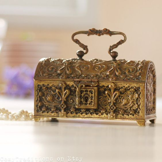 Authoritative Vintage antique metal jewelry boxes sorry, that