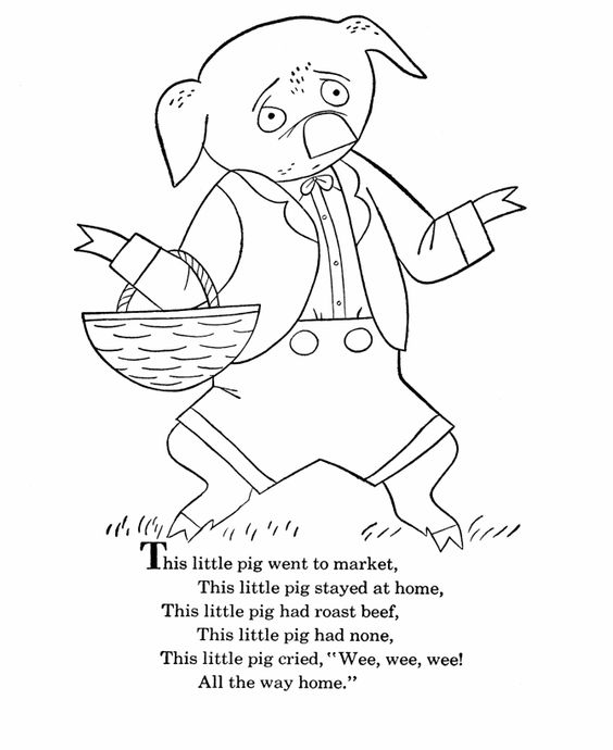 Bluebonkers Nursery Rhymes Coloring Page Sheets This Little