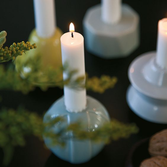 The sophisticated and bright colours make the candle holders relevant year-round, and not only during the holiday season.