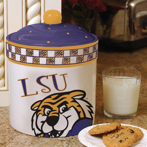 LSU Tigers Home-Gating Gameday Ceramic Cookie Jar