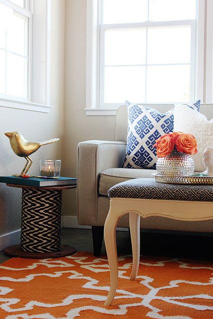 great idea--this end table is made of a rescued spool from Home Depot!