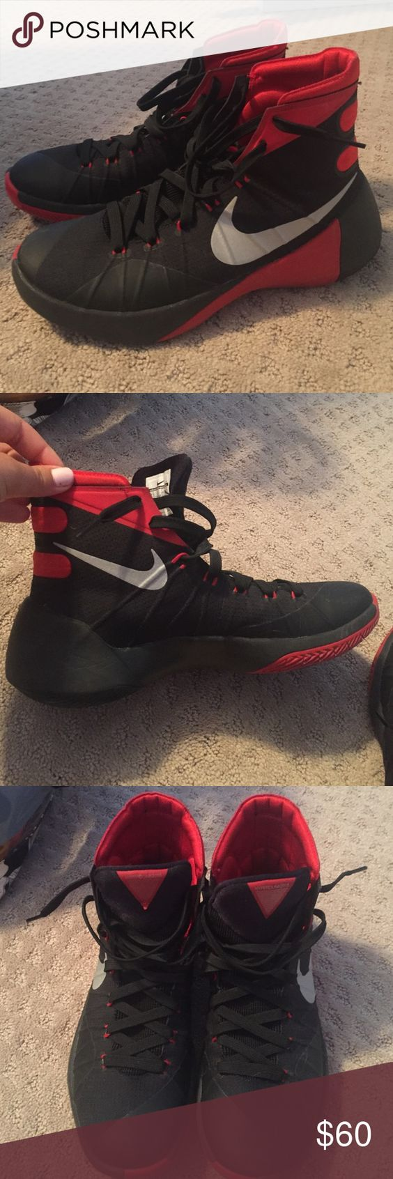 Men's 2015 Nike Hyperdunk (Womens size 9) Worn for less than half a season. Nike Shoes Athletic Shoes