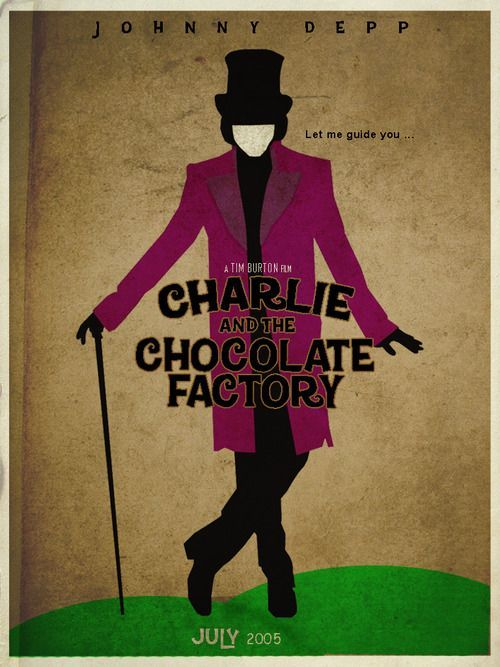 Risultati immagini per charlie and the chocolate factory 2005 poster