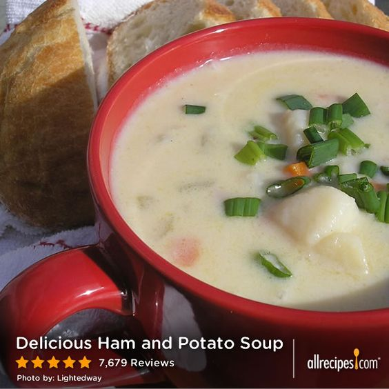"Delicious Ham and Potato Soup | ""5 stars doesn't do this recipe justice; this potato soup is fantastic. I have made other potato soup recipes and always found them bland. Not so with this recipe."""