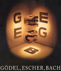 "Gödel, Escher, Bach: An Eternal Golden Braid (commonly GEB) is a 1979 book by Douglas Hofstadter, described by his publishing company as ""a metaphorical fugue on minds and machines in the spirit of Lewis Carroll""."