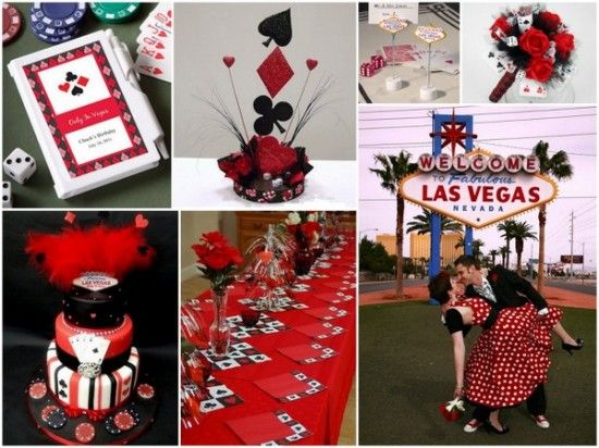 Casino themed wedding supplies