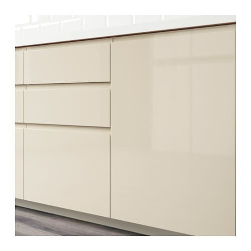 Voxtorp Porte Brillant Beige Clair 60x60 Cm Cuisine Beige Armoires De Cuisine Beiges Ikea