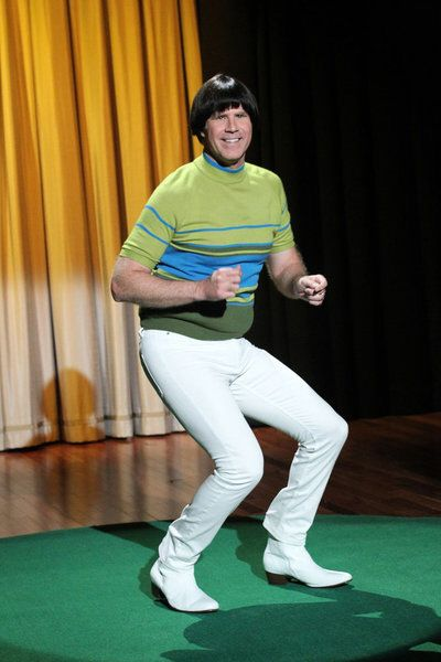 Will Ferrell and Jimmy Fallon dance and argue over who has the tightest pants