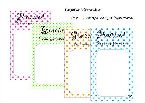 Tarjetas realizadas por Estampa con Josleyn Perez....Imprimibles.