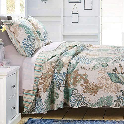 Beach Theme Ocean Coastal Quilt Twin Twin Xl Bedding Set With Sea