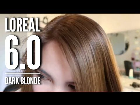 Coloring My Hair Again With Loreal 6 0 Dark Blonde Youtube