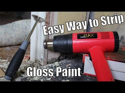 How To Strip Gloss Paint Off Wood Easy Way To Remove Gloss From Door Frames And Skirting Youtube In 2020 Stripping Paint From Wood Gloss Paint Wood Door Frame