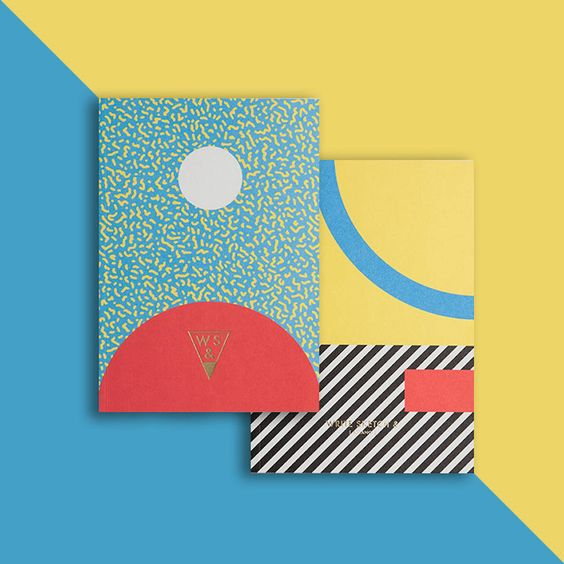 Memphis Notebooks Collection - notebooks with geometric designs on cover from OfficeMilano https://www.behance.net/officemilano  http://www.writesketchand.com/shop/: