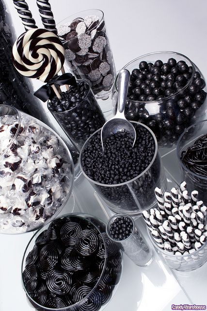 Dark and Delightful: Black and White Candy Buffet