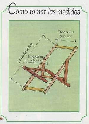 Planos para hacer reposeras de madera con lona buscar for Sillas para planos
