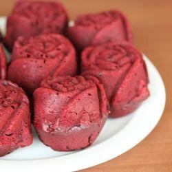 Red velvet cupcake roses.