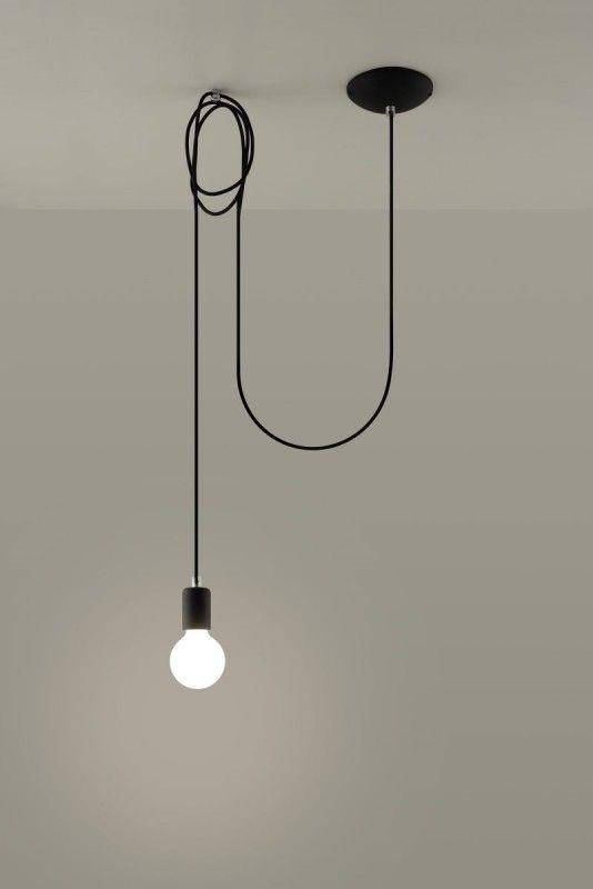 Sollux Edison Pendelaufhang 3m Schwarz 1 Flg E27 Lampen Und Leuchten Led Schiene Leuchtstoffrohre