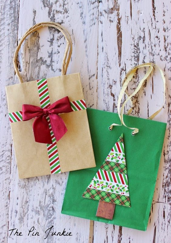 Washi Tape Gift Bags: