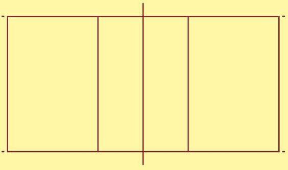 Volleyball court diagram