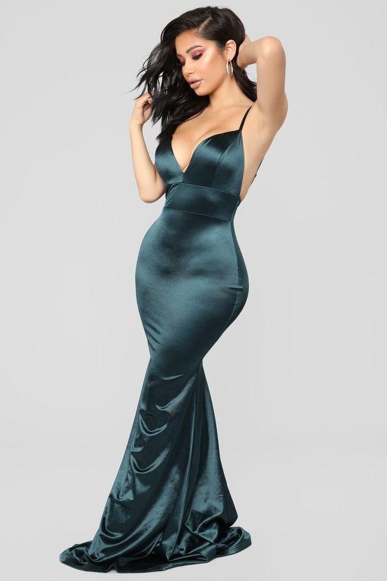 Taken By Her Beauty Mermaid Dress - Teal