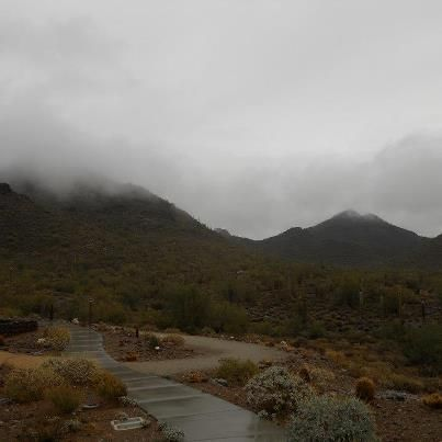 The clouds rolling in behind the Nature Center at CCRP DEC 2012 Photo by Ranger Mark