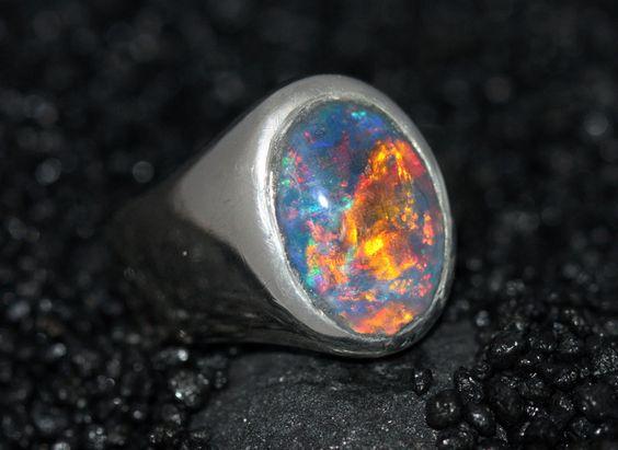 Opal Silberring von Silberschweif auf DaWanda.com