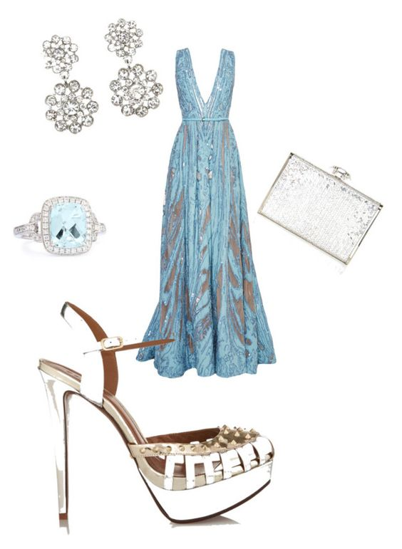 """""""Sin título #156"""" by shary-elivo on Polyvore featuring moda, Elie Saab, Frederic Sage, Charlotte Russe, Judith Leiber y Schutz"""