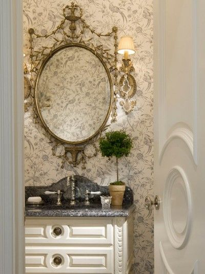 Lovely Toile Wall Paper