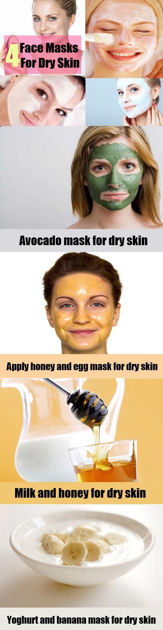 Natural Face Masks For Dry Skin  Facial Care  Pinterest  Natural