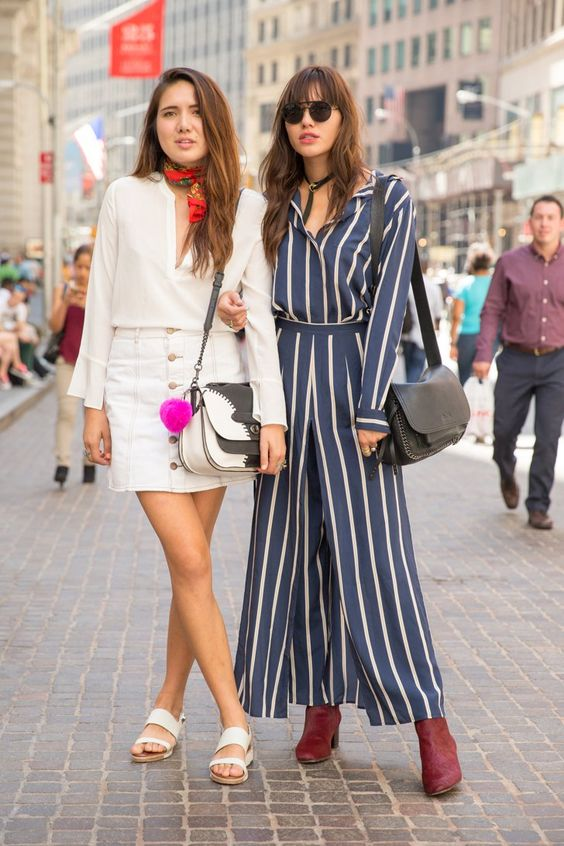 Pin for Later: Your VIP Pass to NYFW's Best Street Style New York Fashion Week, Day 6 Dylana and Natalie Suarez.