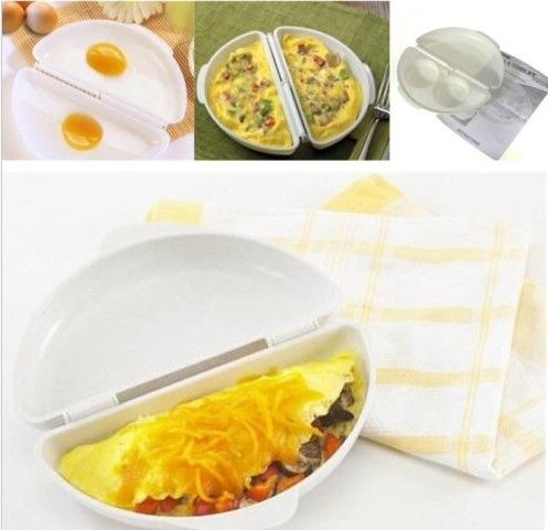 Free Shipping 2 Pcs Cooking Tool Microwave Cheese Egg Cooker Fast Egg Maker