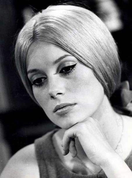 Catherine Deneuve, most probably photographed during the filming of Peau d'Ane (1970).: