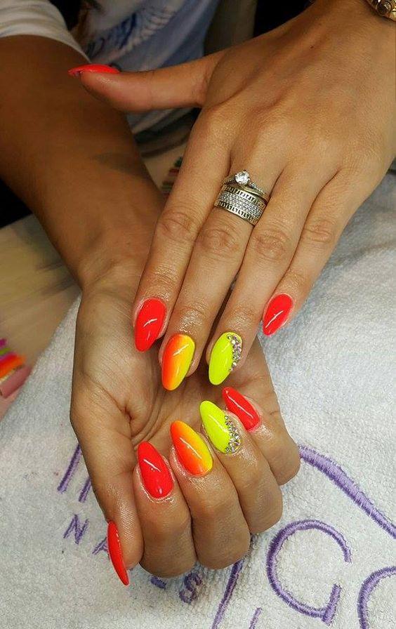 by Klaudia Demkiewicz Indigo Young Team! Follow us on Pinterest. Find more inspiration at www.indigo-nails.com #nailart #nails #indigo #ombre #red