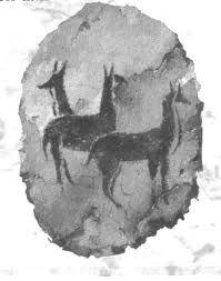 In de steen tijd maakte ze op de muur tekeningen